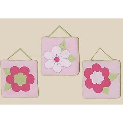 Flower Pink and Green Collection Wall Hangings