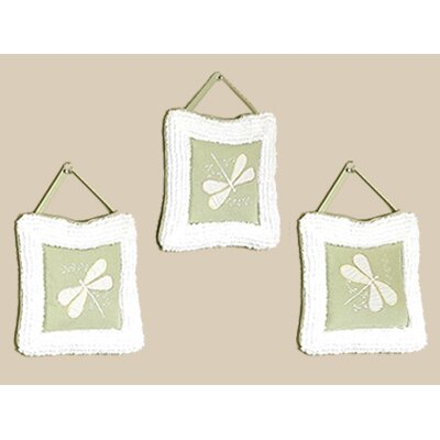 Sweet Jojo Designs Green Dragonfly Dreams Collection Wall Hangings