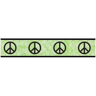 Sweet Jojo Designs Peace Green Collection Wall Paper Border