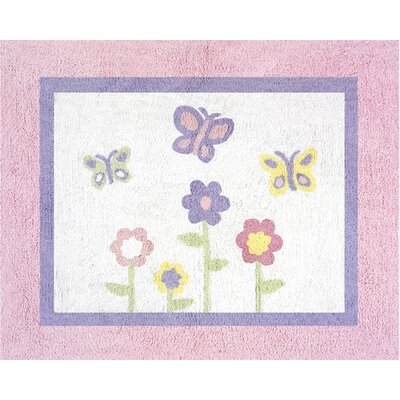 Sweet Jojo Designs Butterfly Pink and Purple Collection Floor Rug