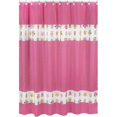 Owl Pink Collection Shower Curtain