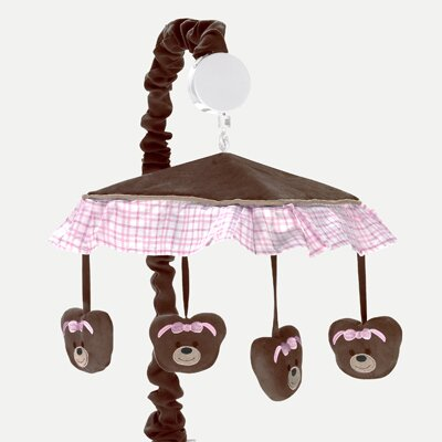 Sweet Jojo Designs Teddy Bear Pink Collection Musical Mobile