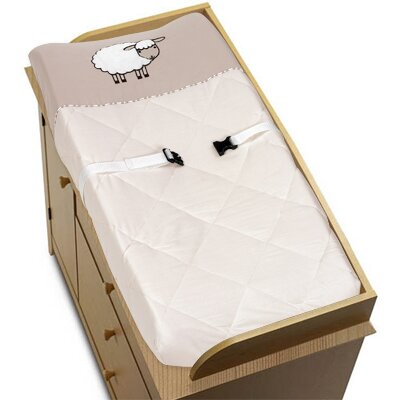 Sweet Jojo Designs Lamb Collection Changing Pad Cover