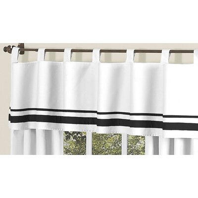 Sweet Jojo Designs Hotel Cotton Tab Top Tailored Curtain Valance