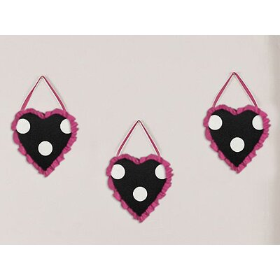 Sweet Jojo Designs Hot Dot Collection Wall Hangings (Set of 3)