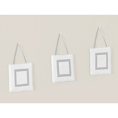 Sweet Jojo Designs Hotel White and Gray Collection Wall Hangings (Set of 3)