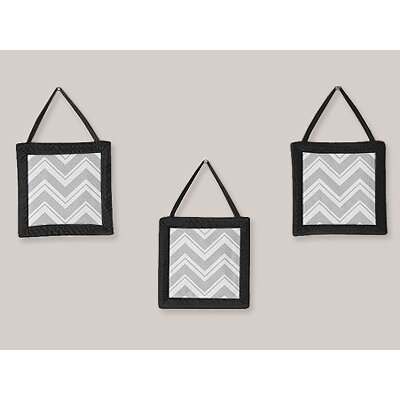 Sweet Jojo Designs Zig Zag Wall Hangings (Set of 3)
