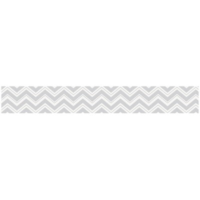 Zig Zag Turquoise and Gray Collection Wall Paper Border