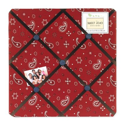 Sweet Jojo Designs Wild West Cowboy Collection Memo Board  - Bandana Print