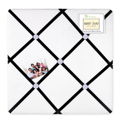 Princess Black, White and Purple Collection Memo Board