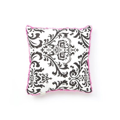 Sweet Jojo Designs Isabella Hot Pink, Black and White Collection Decorative Pillow
