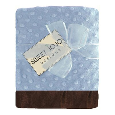 Sweet Jojo Designs Minky Dot and Satin Blanket