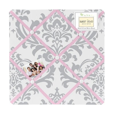 Pink and Gray Elizabeth Memo Board