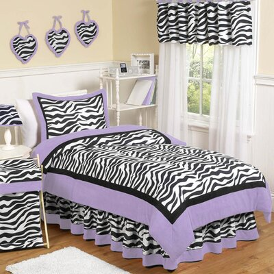 Sweet Jojo Designs Zebra Purple Comforter Set