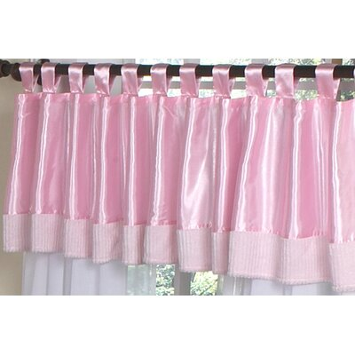 Sweet Jojo Designs Chenille Pink Tab Top Tailored Curtain Valance