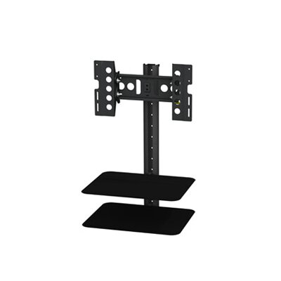 Tilt and Turn TV Mount with AV Shelving (25 - 40