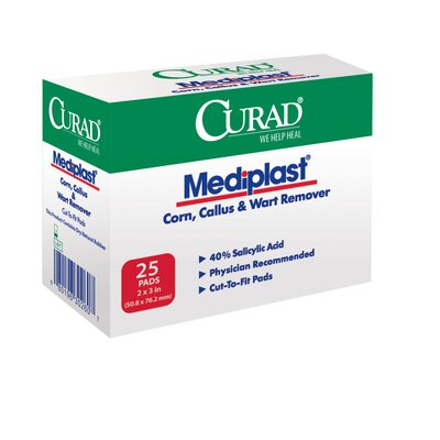 Medline Curad MediPlast Corn Callu and Wart Remover (Case of 150)