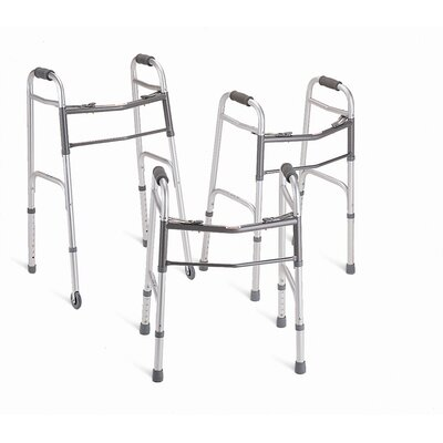 "Medline Deluxe Junior Folding Walker with 5"" Wheels"