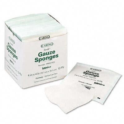 Medline Caring Sterile Gauze Sponges, 1200/Carton