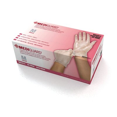 Medline Large Cedar Vinyl Synthetic Exam Gloves (Pack of 1500)