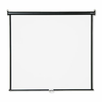 Quartet® Wall or Ceiling Projection Screen in White Matte with Black Matte Casing