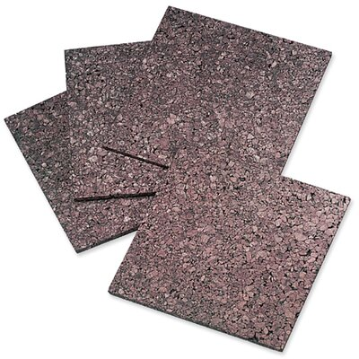 "Quartet® Cork Panels, Self-stick, 12""x12"", 4 per Pack, Dark Natural"