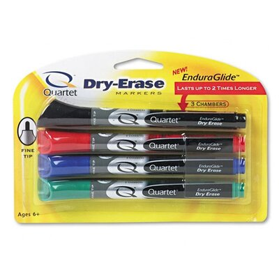 Quartet® Dry-Erase Markers in Four Assorted Colors