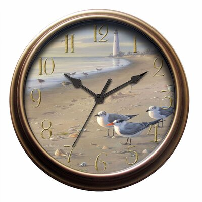 New Haven Seagull Wall Clock in Distressed Antique Bronze