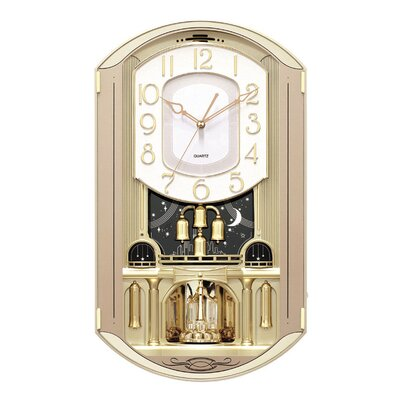 New Haven Rectangular Gold Music Wall Clock