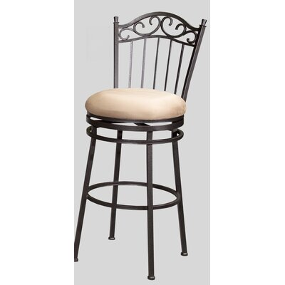 "Chintaly Imports 30"" Memory Swivel Bar Stool with Windsor Back"