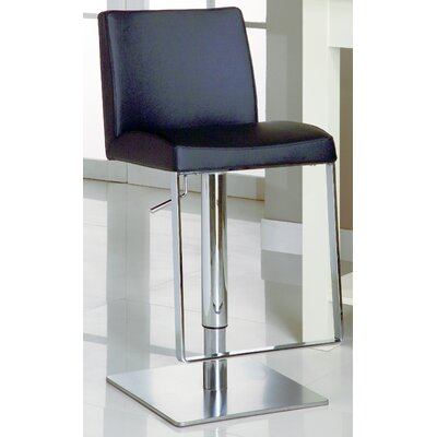 Chintaly Imports Adjustable Causal Swivel Stool in White