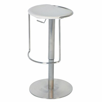 Chintaly Imports Adjustable Backless Swivel Stool in White