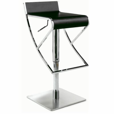Chintaly Imports Adjustable Swivel Stool with Rectangular Seat in White