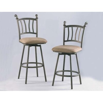"Chintaly Imports 30"" Swivel Bar Stool with Windsor Back"
