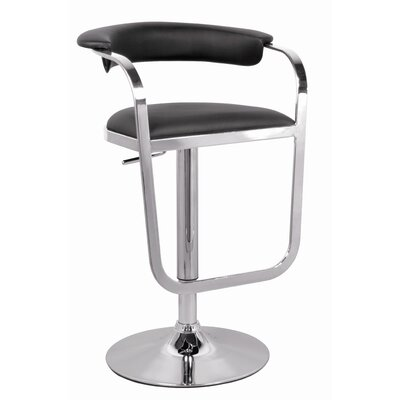 Chintaly Adjustable Height Swivel Stool in Chrome