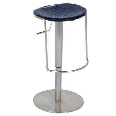 Chintaly Adjustable Backless Swivel Stool in Black