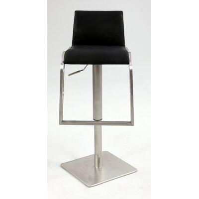 Adjustable Height Stool with Upholstered Back Rest