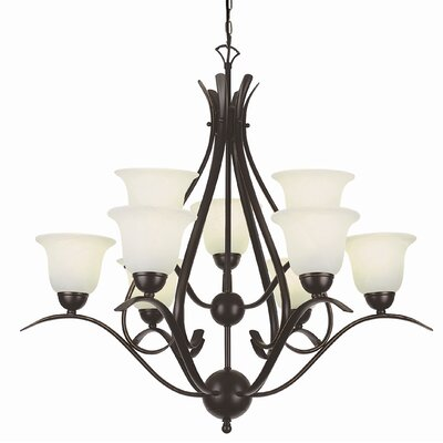 TransGlobe Lighting Contemporary 9 Light Chandelier
