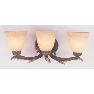 Deer Bathroom Vanity Lights : TransGlobe Lighting Deer Antler 2 Light Bath Vanity Light & Reviews Wayfair