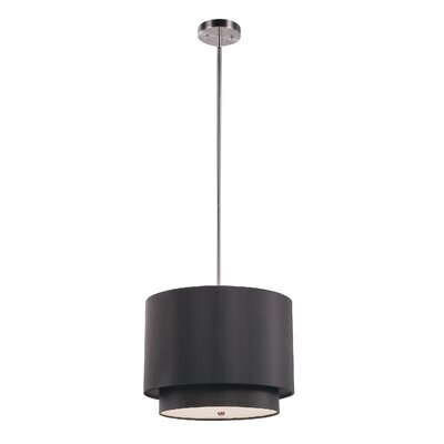 TransGlobe Lighting 1 Light Drum Pendant