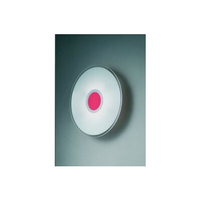 Gamma Delta Group Coloring Red Round Ceiling / Wall Lamp