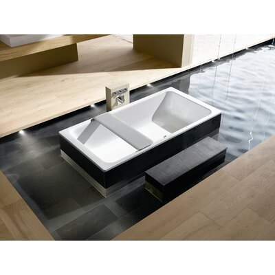 "Kaldewei Bassino 78.7"" x 39.4"" Bath Tub with Front and Side Paneling on Left in White"