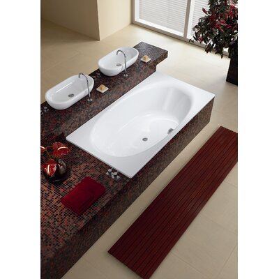 "Kaldewei Luxxo Duo 74.8"" x 39.4"" Oval Bath Tub in White"