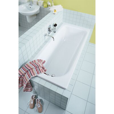 "Kaldewei Saniform Plus 16.14"" x 55.12"" Bath Tub in White"