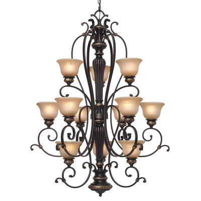 Golden Lighting Jefferson 12 Light Chandelier