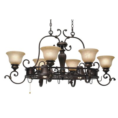 Jefferson Chandelier Pot Rack with 8 Light