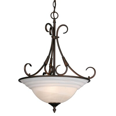 Homestead Ridge 3 Light Bowl Inverted Pendant