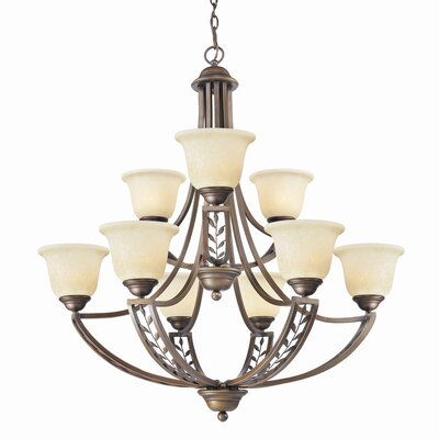 Golden Lighting Woodbriar 9 Light Chandelier