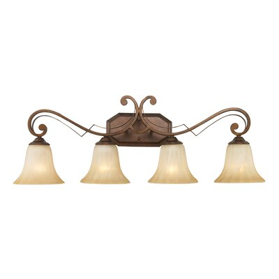 Golden Lighting Pemberly Court 4 Light Bath Vanity Light
