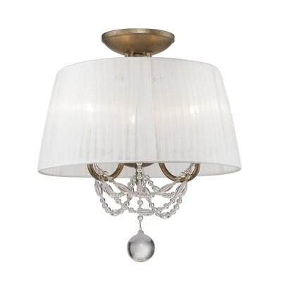 Mirabella 3 Light Convertible Semi-Flush Mount